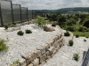 Steingartenanlage aus Quarzit